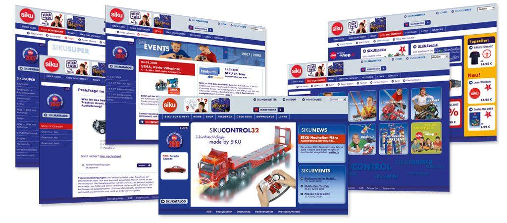 SIKU Webentwicklung online marketing maßnahmen