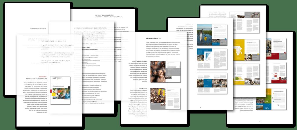 bmz broschürenkonzept ministerium entwicklungszusammenarbeit