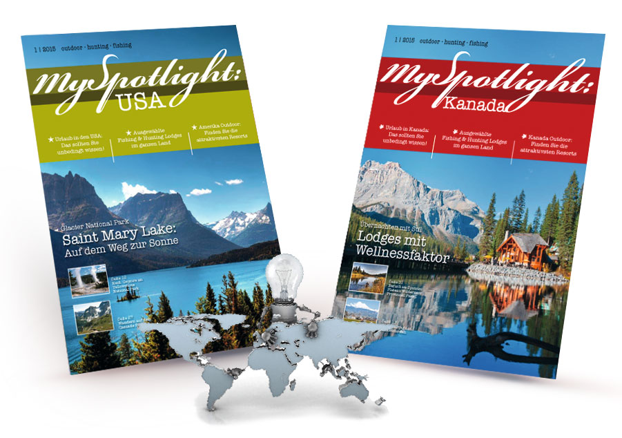 Medienkonzept, Magazinkonzept MySpotlight Kanada & USA E-Magazin