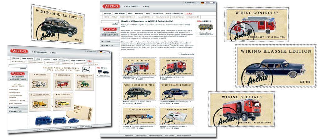 Wiking Modellbau, Webdevelopment