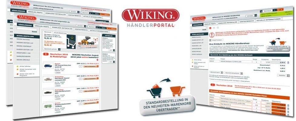 Wiking Modellbau, Webdevelopment, online marketing, b2b marketing