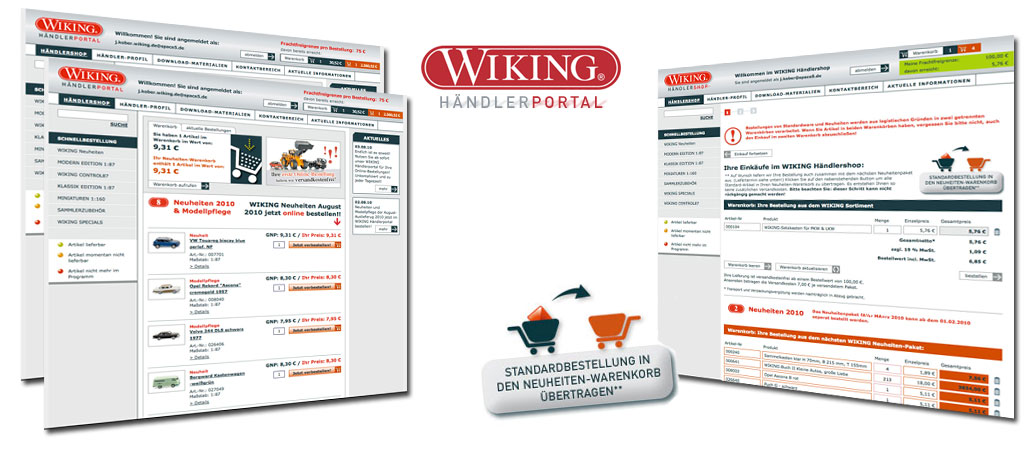 Wiking Modellbau, Webdevelopment, online marketing, b2b marketing
