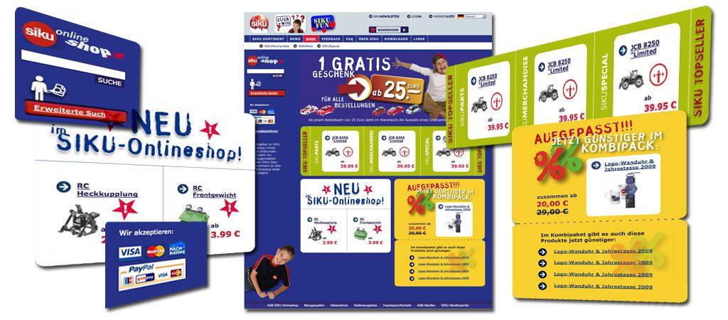 SIKU Webdevelopment, Onlineshop