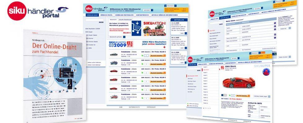 SIKU Onlinemarketing b2b, Händlerportal it konzept Internetportal, b2b e-commerce