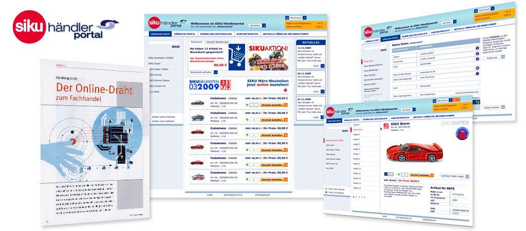 SIKU Onlinemarketing b2b, Händlerportal b2b e-commerce optimierung