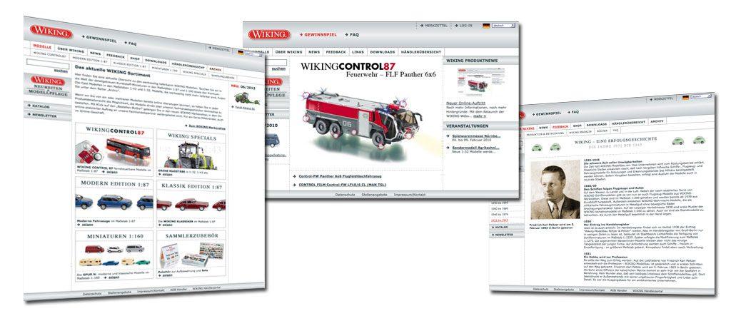 Wiking Modellbau, Webdevelopment Online Marketing Maßnahmen