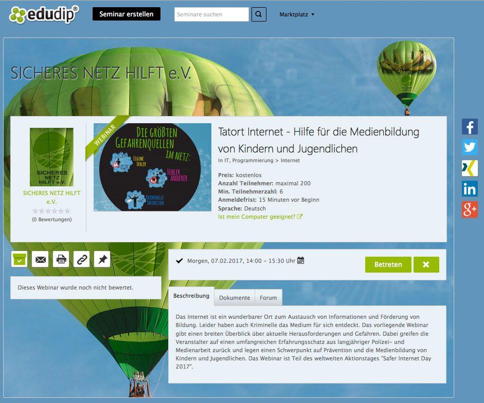 internet webinar medienbildung für kids