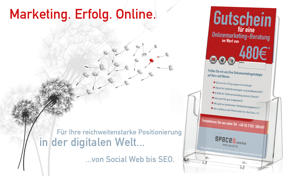 marketingberatung gutschein - wuppertal, wermelskirchen, bergisches land - erstberatung kostenlos - space5media
