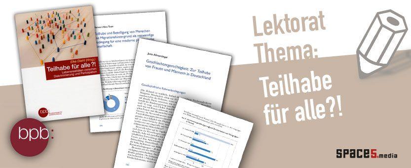 Projekt freies Lektorat - bpb Schriftenreihe